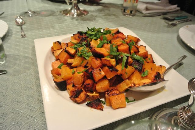 honey glazed squash with spices