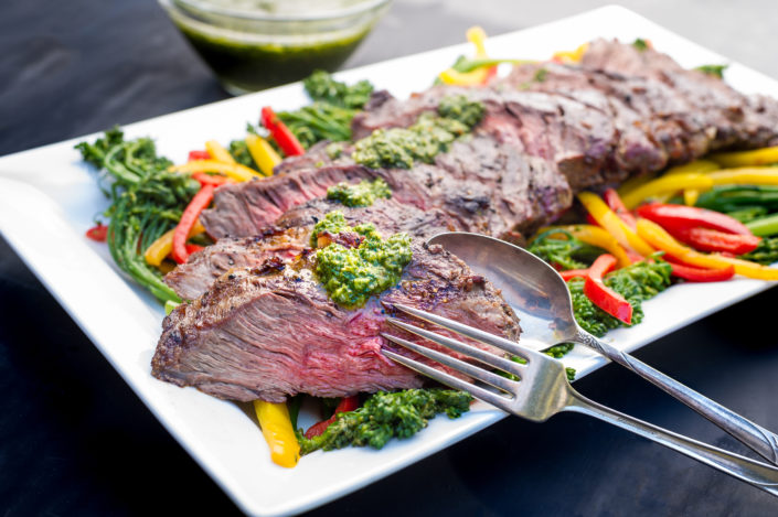 Grilled Flank Steak with Chimmichuri
