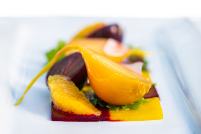 Beet Roasted Beet Salad, Baby Beets, Kale, Confit Navel Orange