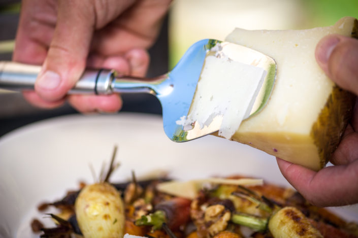 Heirloom carrots with Manchego